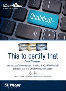 Visonic qualified installer